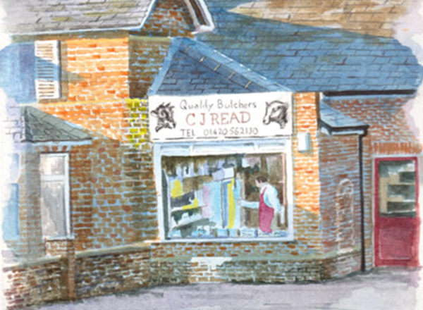 Painting of Old Shop